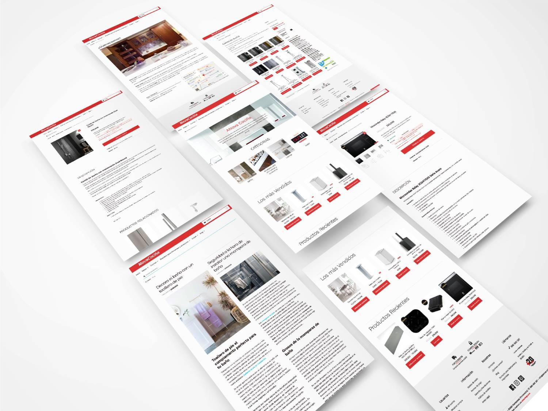 Foto montaje del diseño de la web anova-cocinas.com