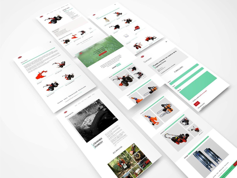 Foto montaje del diseño de la web roteco.es
