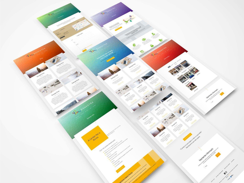 Foto montaje del diseño de la web banastra.es