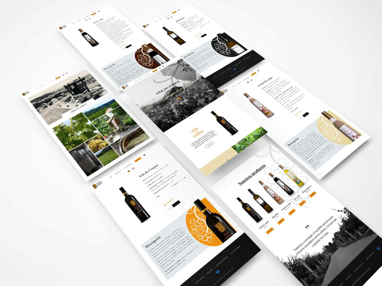 Foto montaje del diseño de la web villadelcorpus.es